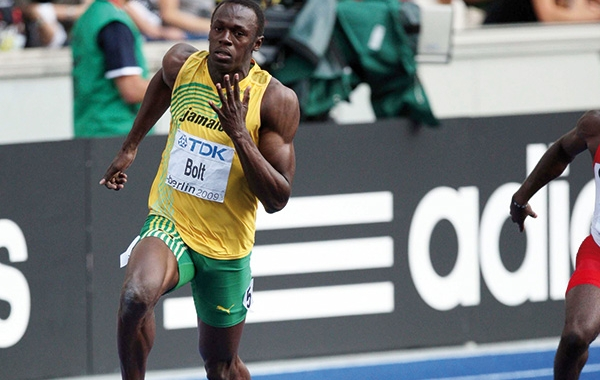 Usain Bolt Wins on Regupol Track In Berlin