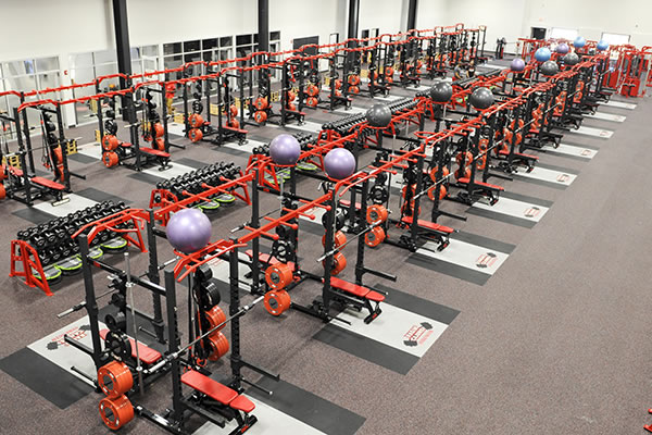 Recycled Rubber Sports & Fitness Athletic Flooring Gallery