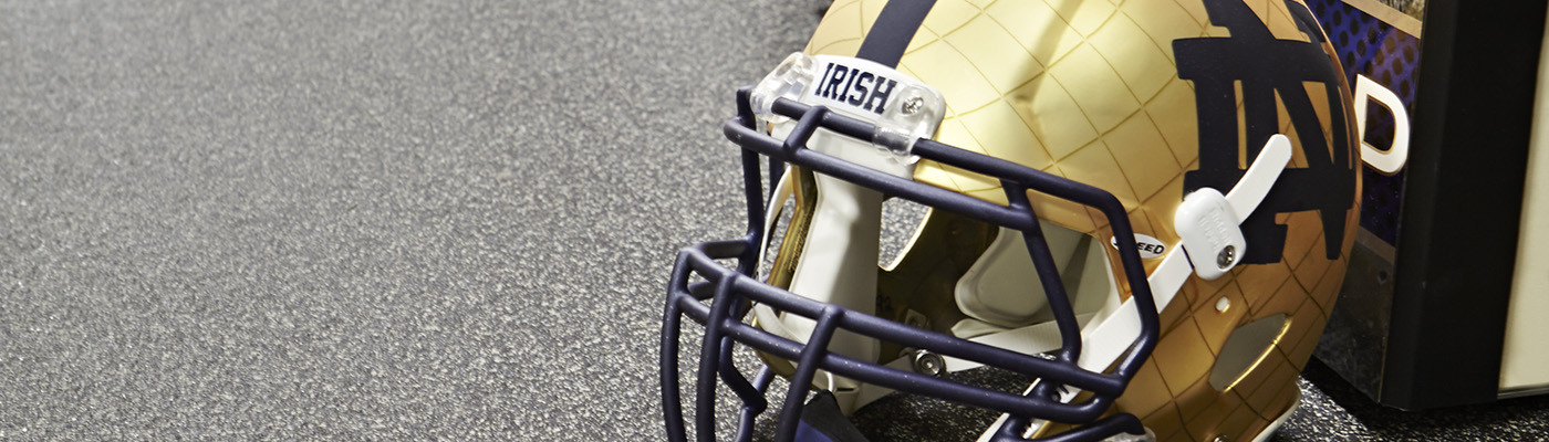 University of Notre Dame Football Equipment Room
